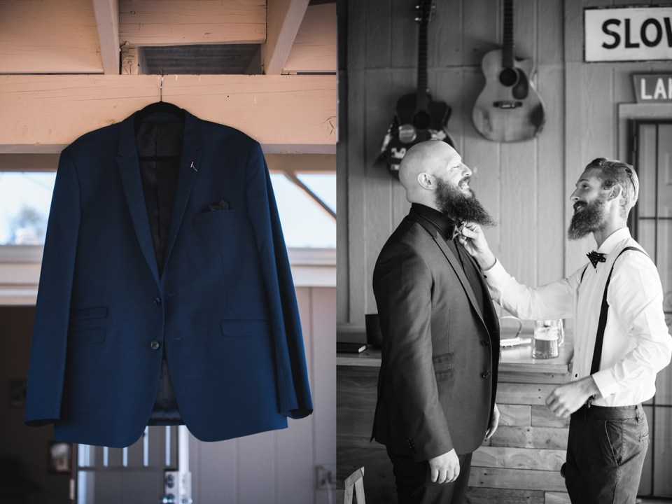 boys getting ready, navy blue jacket
