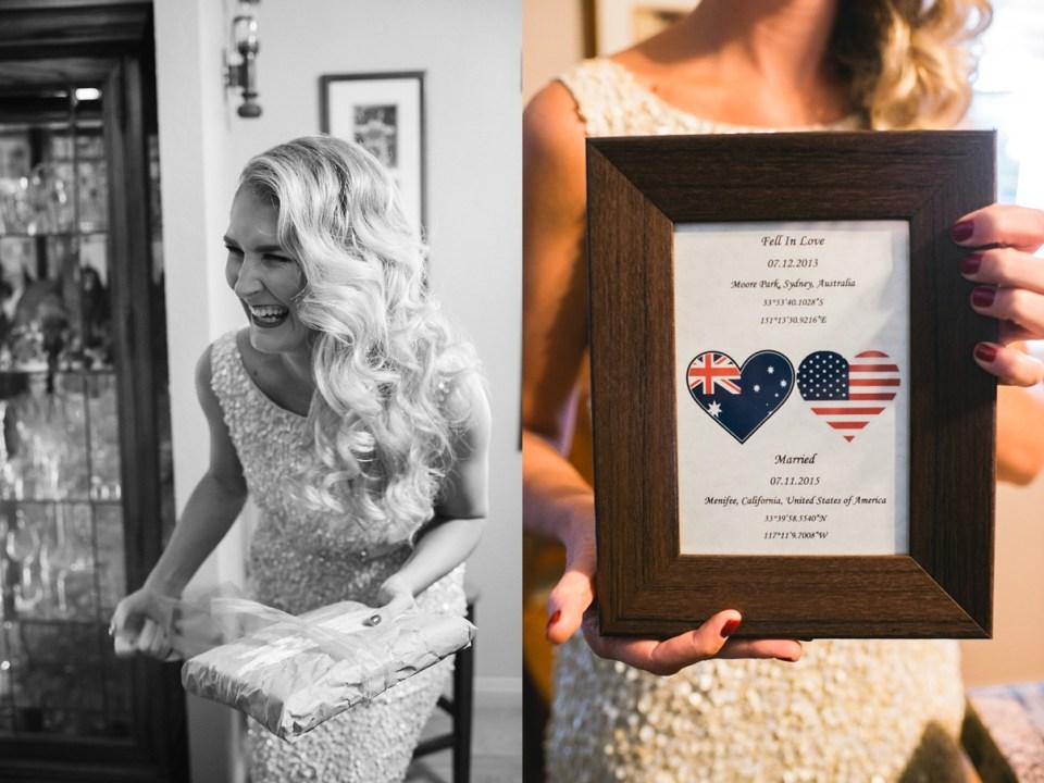 backyard vintage carnival wedding, bridal gifts, DIY wedding gifts