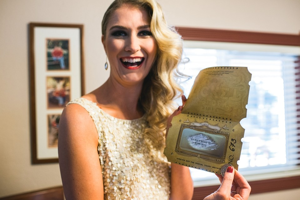 backyard vintage carnival wedding, golden ticket, scratch offs for weddings