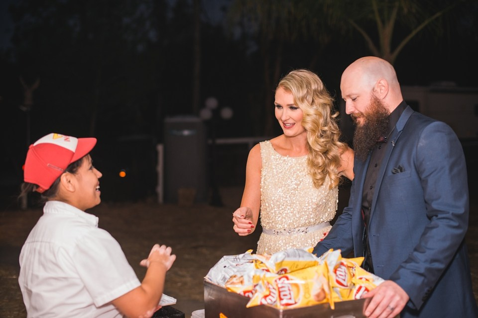 in n out wedding catering, southern california wedding, in n out at a wedding