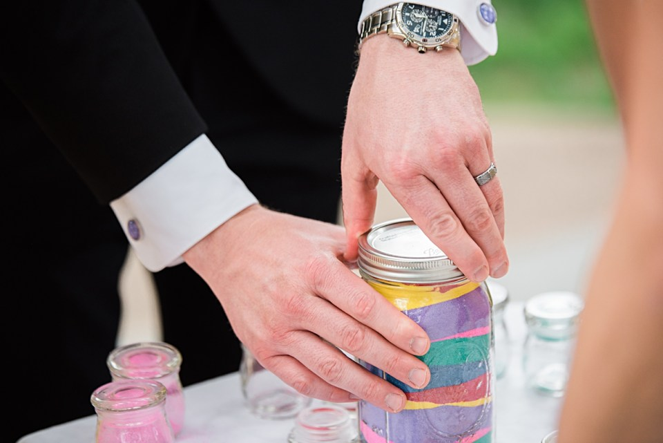 sand in a jar for weddings, sand ceremony for weddings