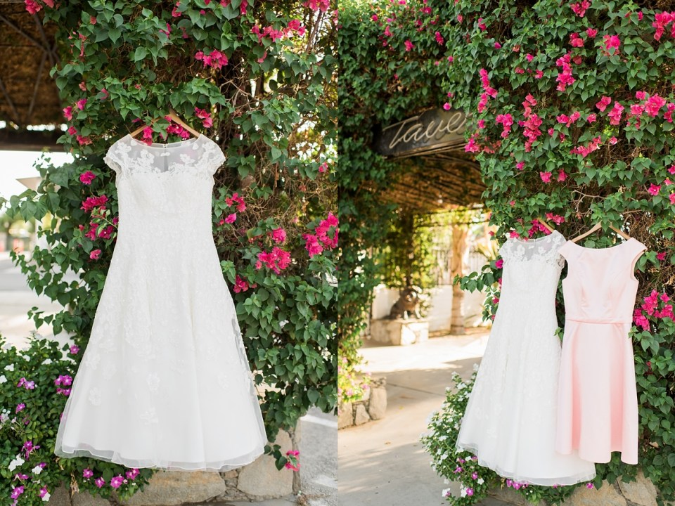bridal gown bougainvillea