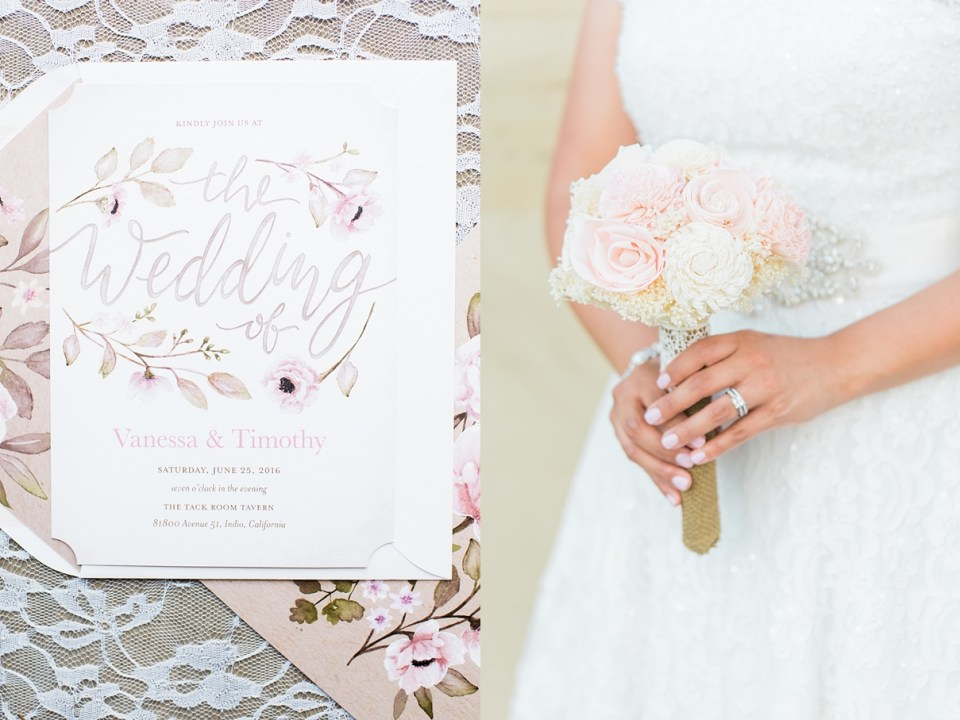 riverside california wedding photographer, lace and flower wedding invitations, floral wedding invitations, rosy lily florals, fake etsy flowers