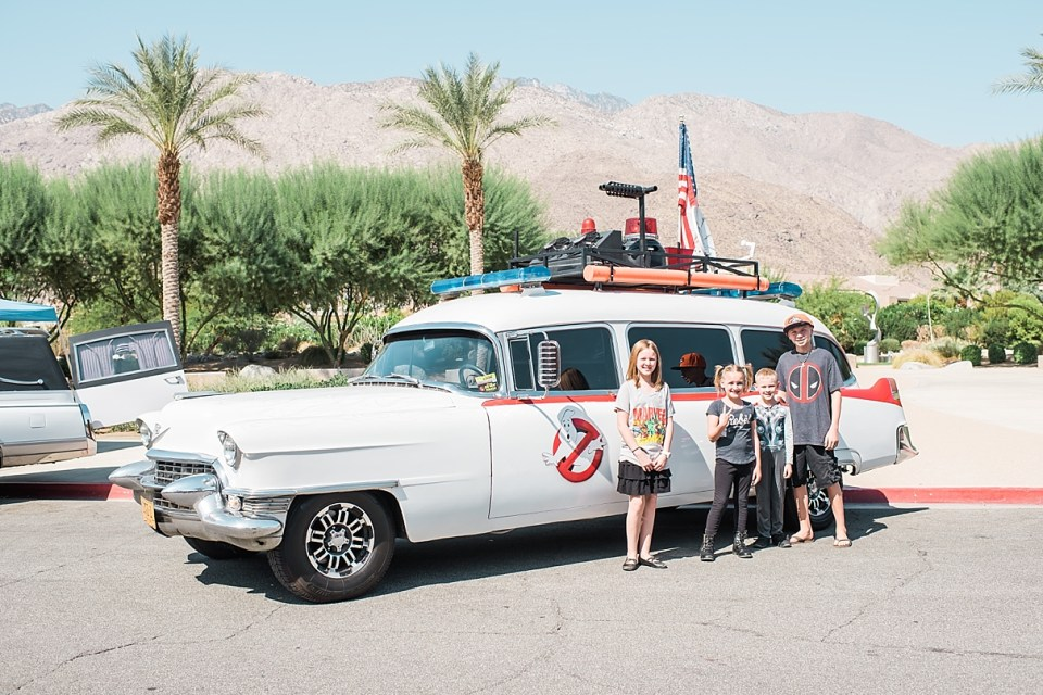 comic con palm springs, ghostbusters car cosplay