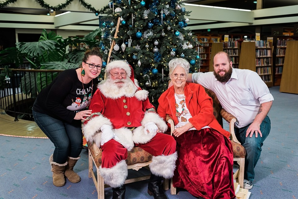 Palm Springs Library holiday event, Santa at the Palm Springs Library, Santa in Palm Springs
