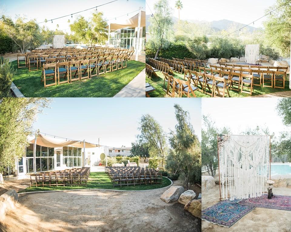 palm springs ace hotel wedding ceremony site photos