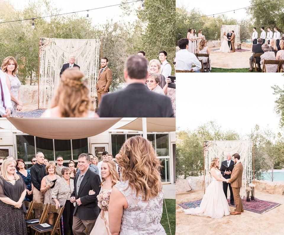 ace hotel palm springs wedding ceremony photos