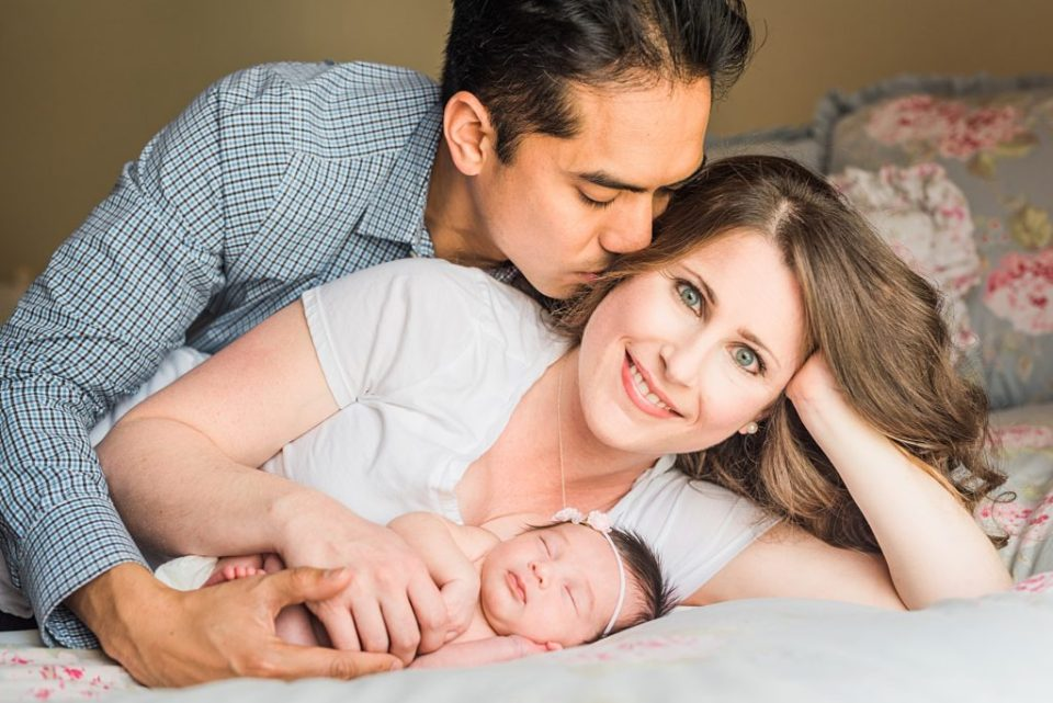 West Los Angeles Lifestyle Newborn Session at Home