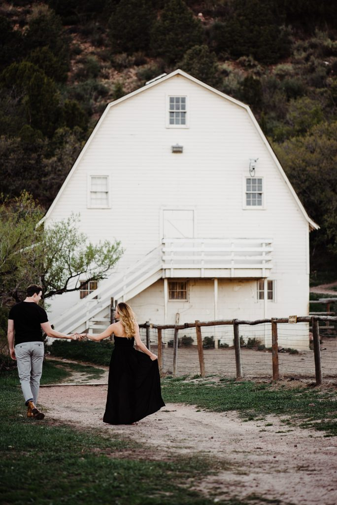 Rock Ledge Ranch Farmhouse engagement session in Colorado Springs