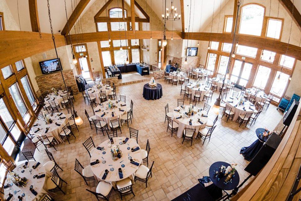 della terra indoor wedding reception set up