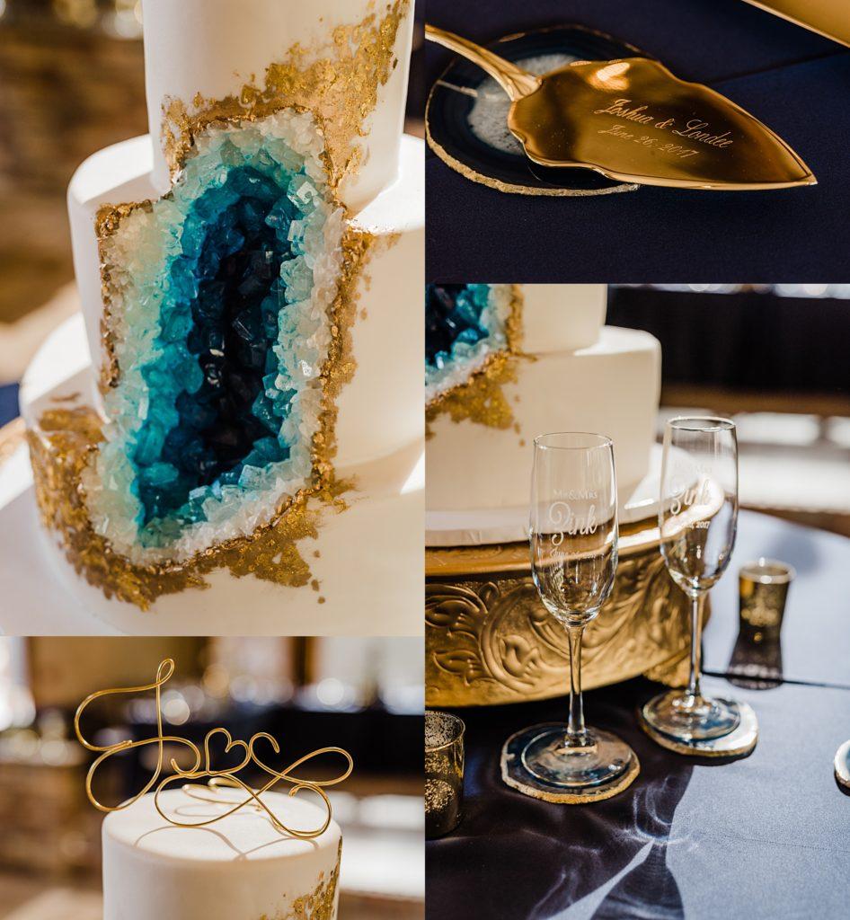 geode cake by azucar bakery