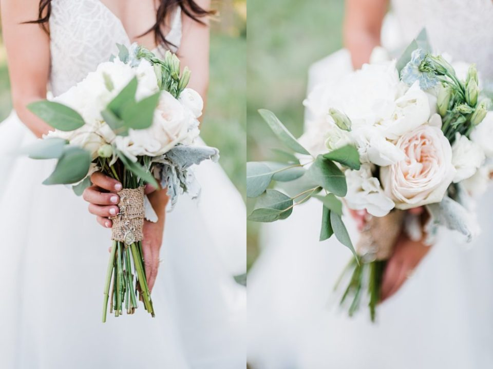 pastel mountain wedding bouquet
