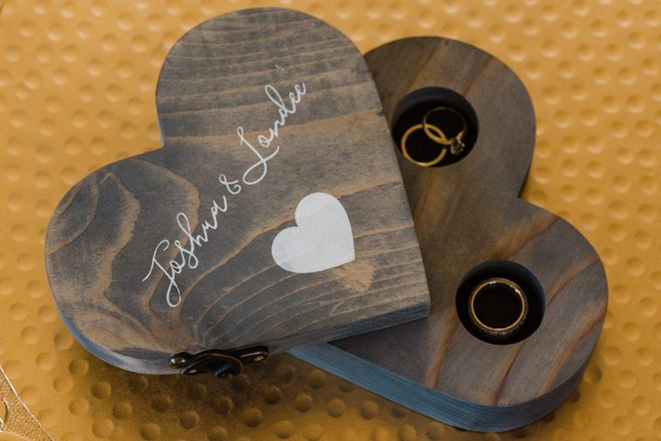 custom heart wood ring box