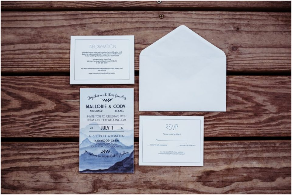 mountain invitations for weddings