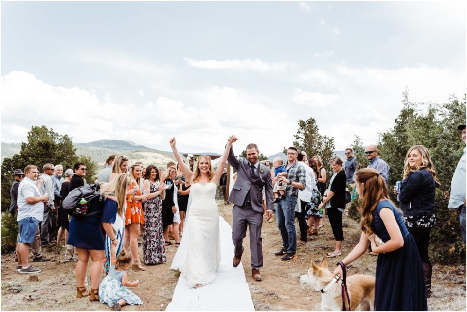 south fork cabin wedding ceremony outside