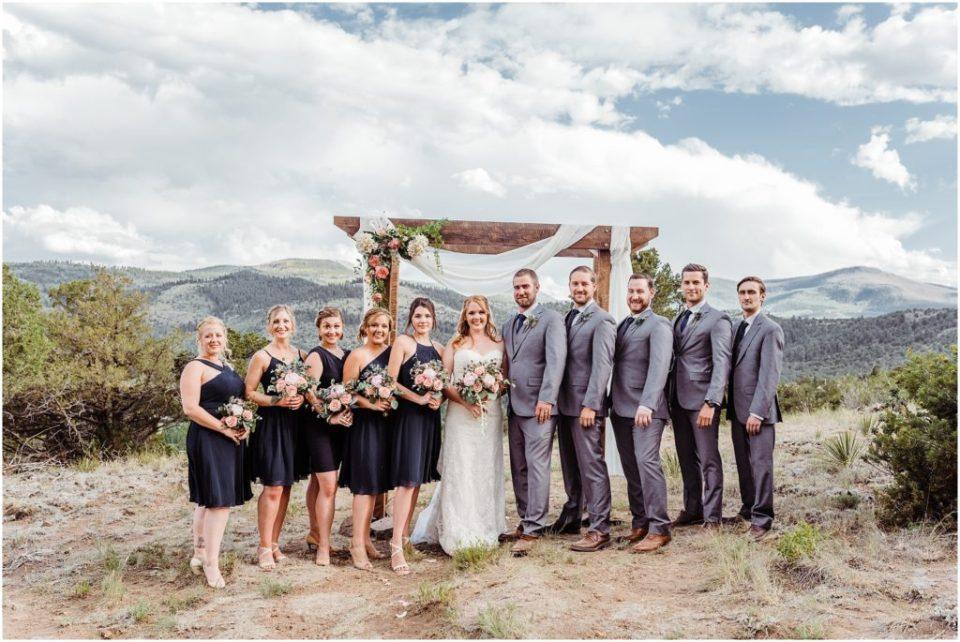 south fork colorado wedding party photos
