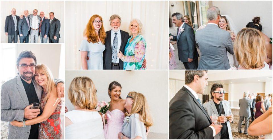 guests at wedding reception