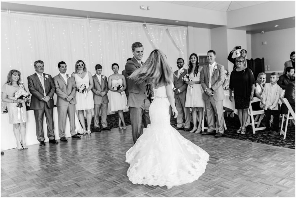 bride and groom's first dance at wedgewood ken caryl