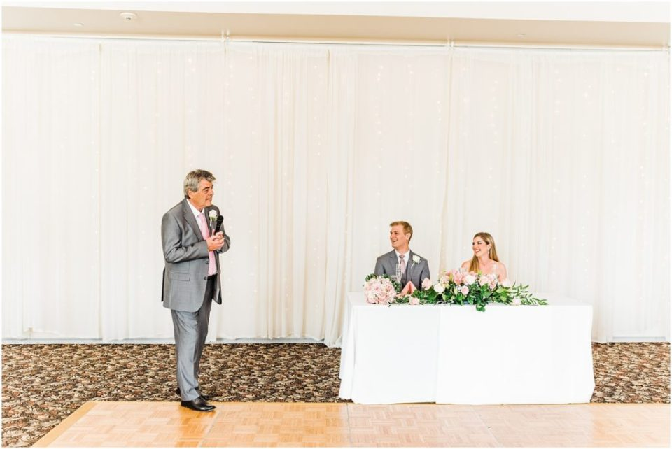 father of the bride giving toast