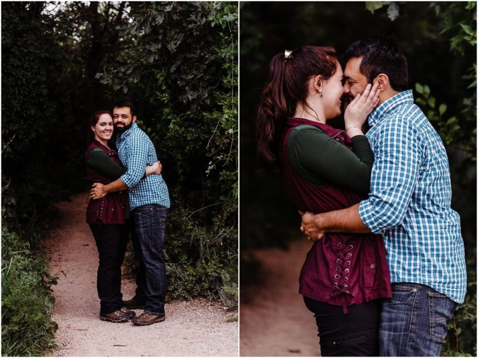 cloudy garden of the gods colorado springs engagement session