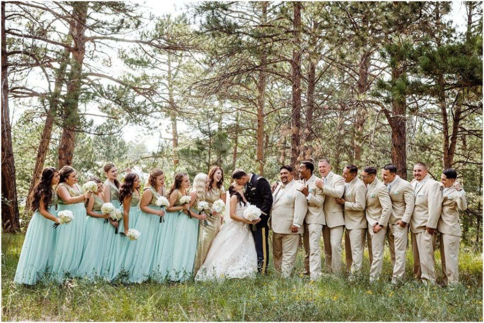 cielo at castle pines wedding party