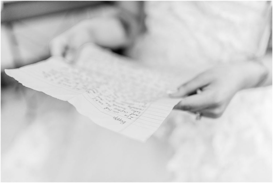 fiancee letter on wedding day
