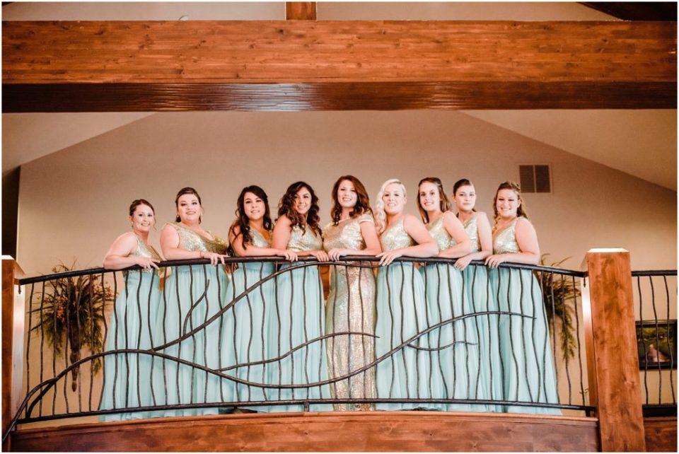 bridesmaids at cielo at castle pines