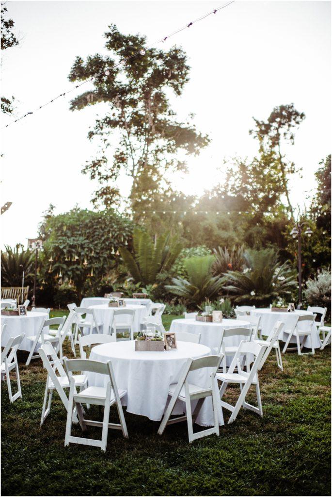 botanic garden wedding details