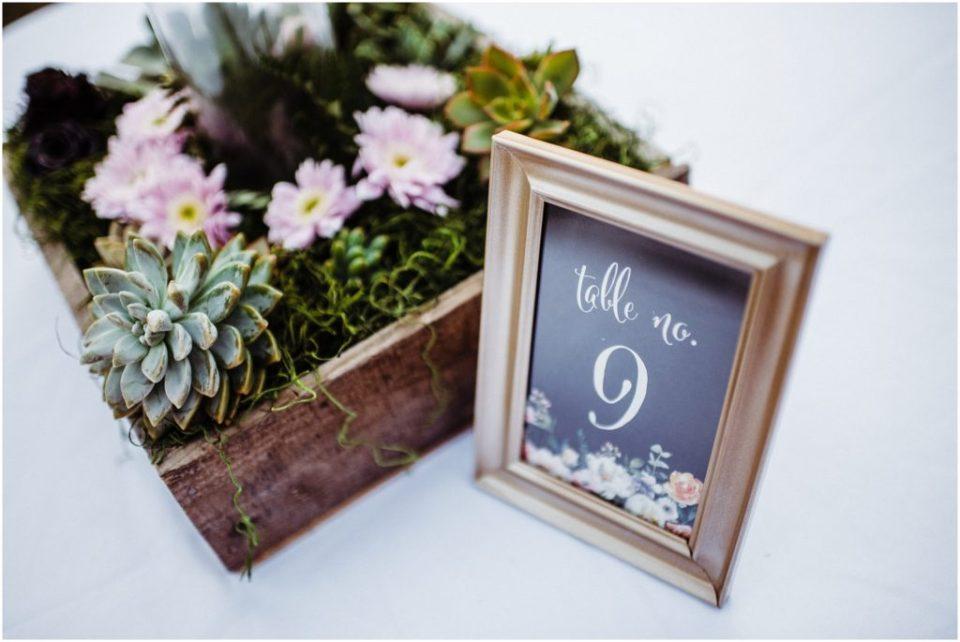 botanic garden wedding reception details