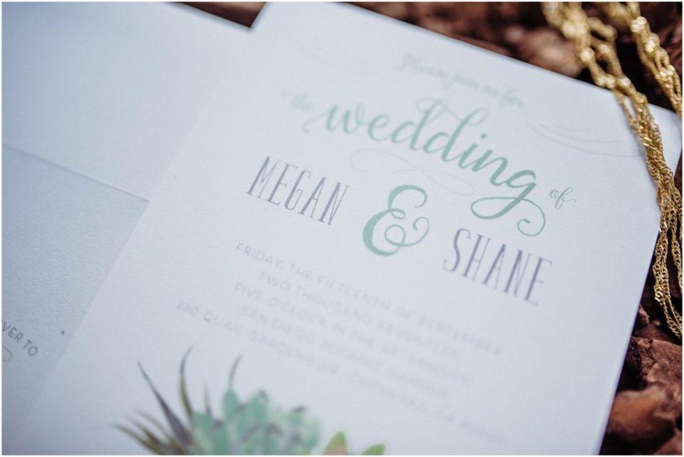 simple garden inspired wedding invitations
