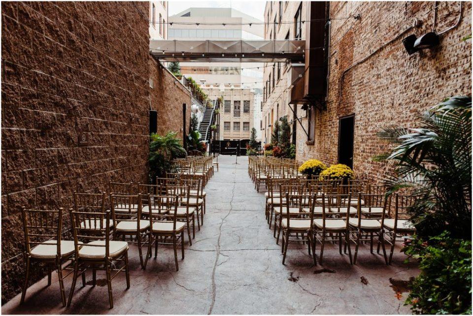 mining exchange colorado springs alleyway wedding