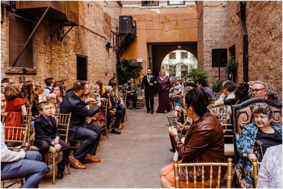 mining exchange alleyway wedding ceremony