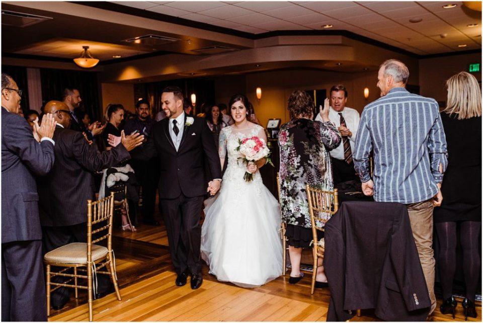 wedding reception grand entrance