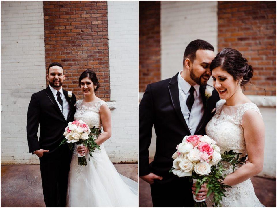 wedding portraits at the mining exchange