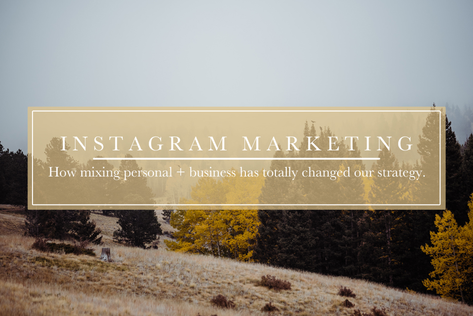 mixing business and personal on instagram