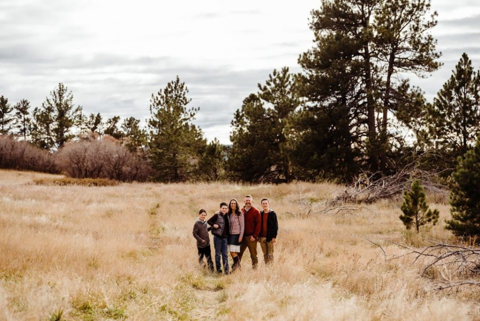 Columbine Open Space family photo session in Castle Rock Colorado