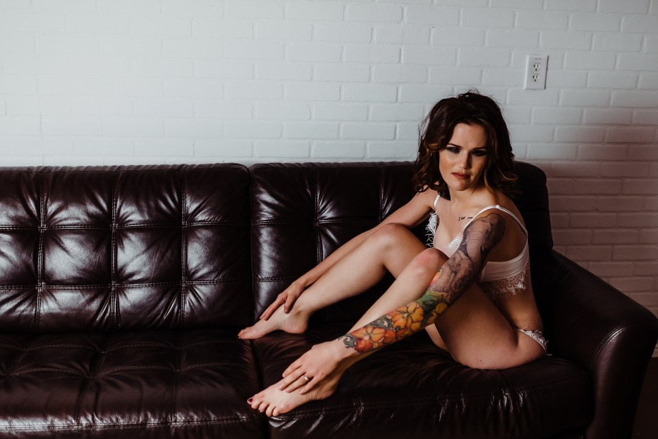 lace and leather boudoir