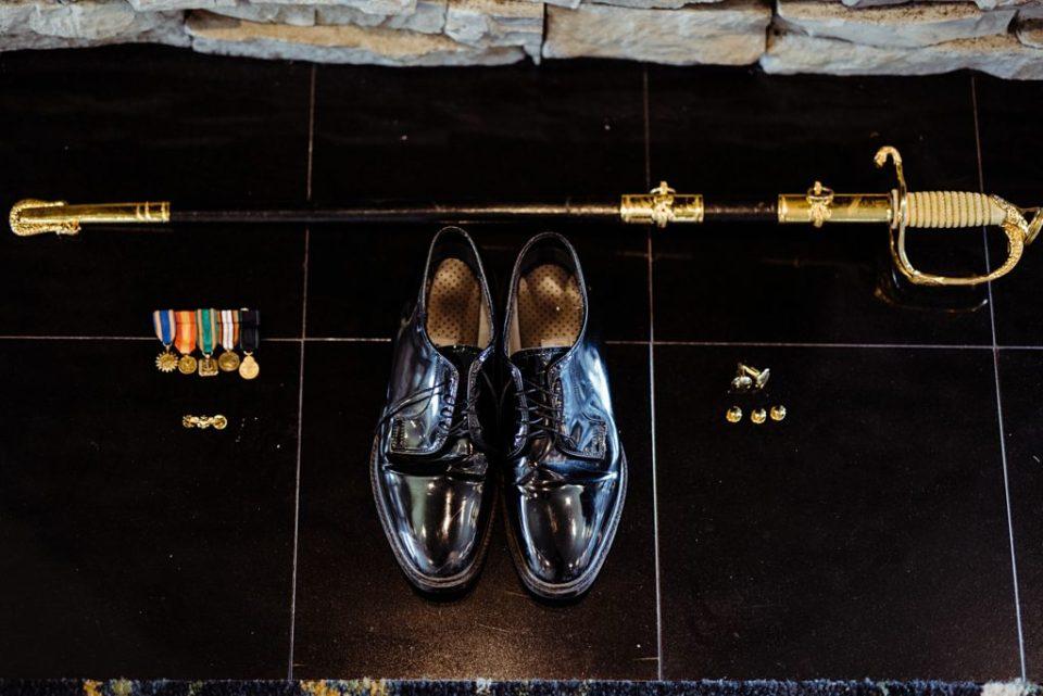 navy wedding details