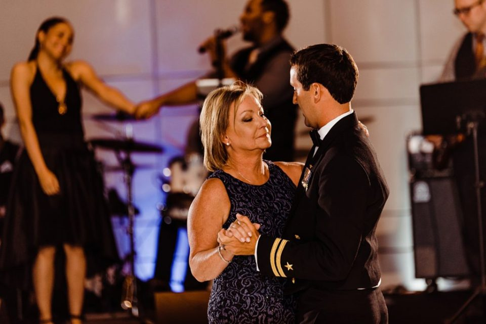 mother son dance at wedding reception