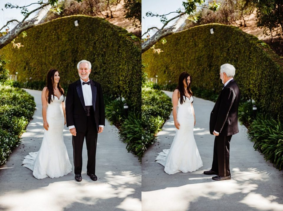 first look with brides dad