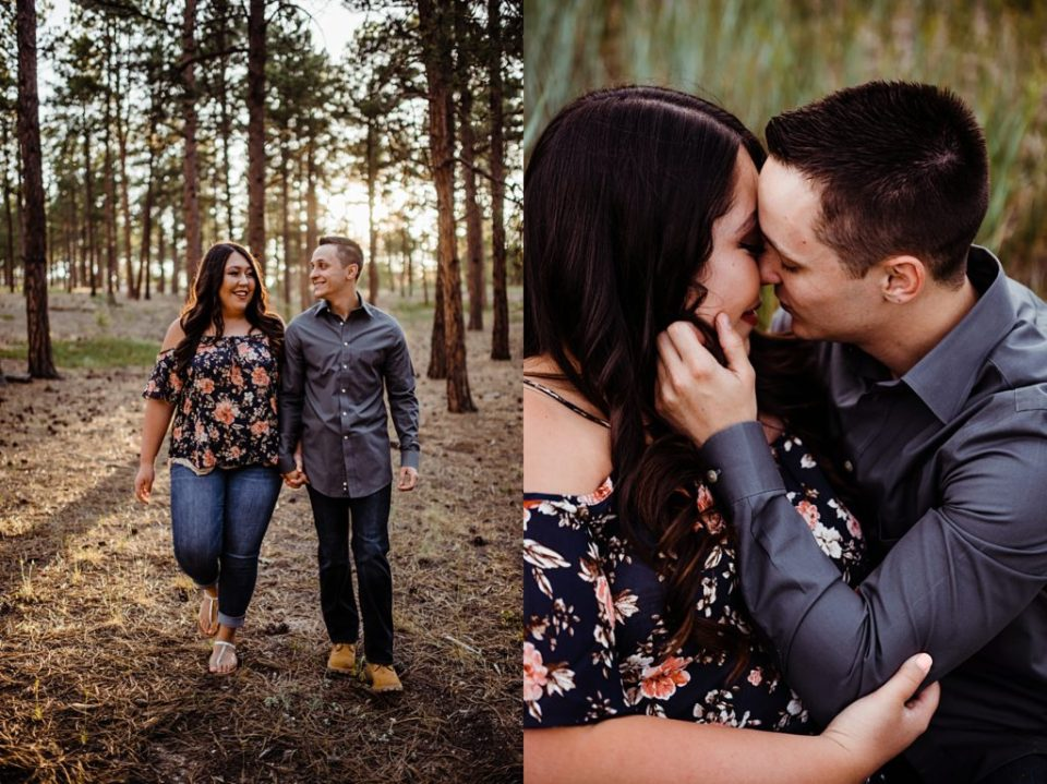 colorado springs engagement session at fox run park