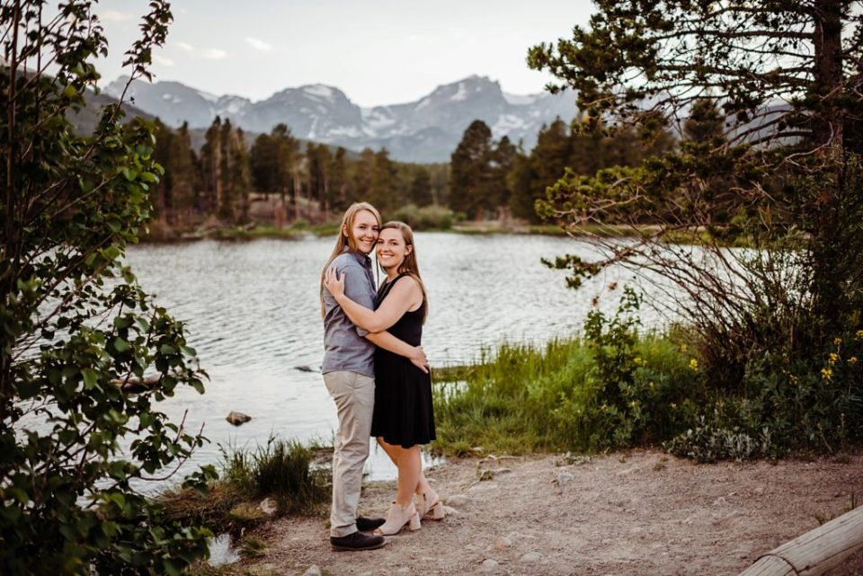 engagement session in rocky mountain national park