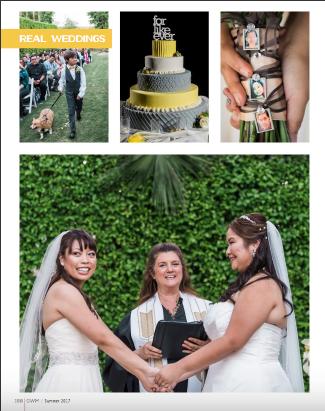 Lesbian Modern Asian Wedding in Palm Springs Featured in Gay Weddings Magazine