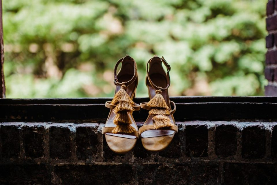 anthropologie yellow shoes
