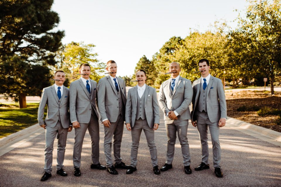 bad ass groomsmen party pose