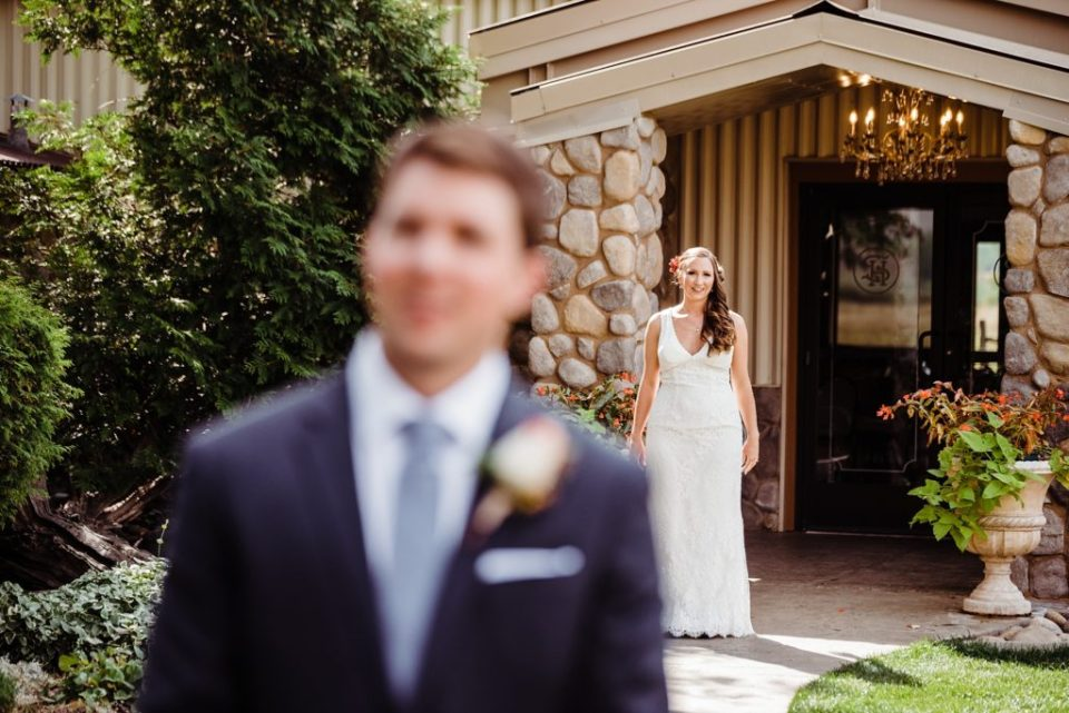 first look at shupe homestead wedding