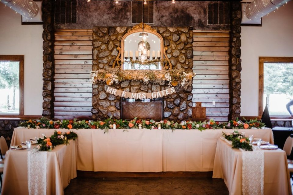 country wedding reception details