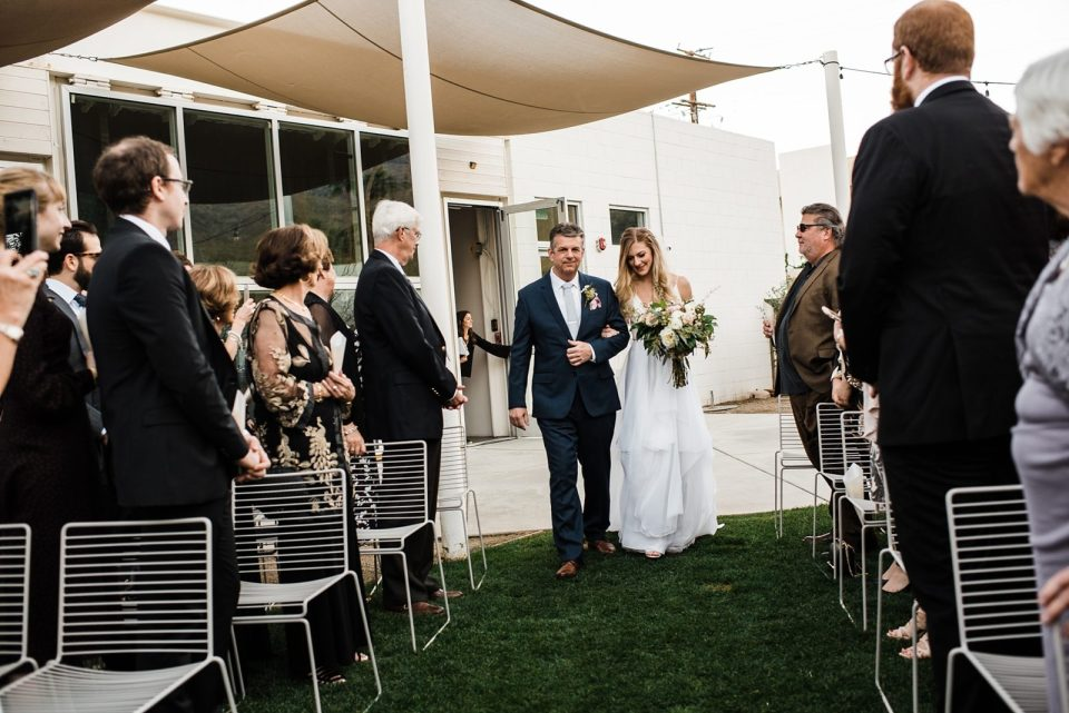 wedding ceremony at the ace hotel in palm springs