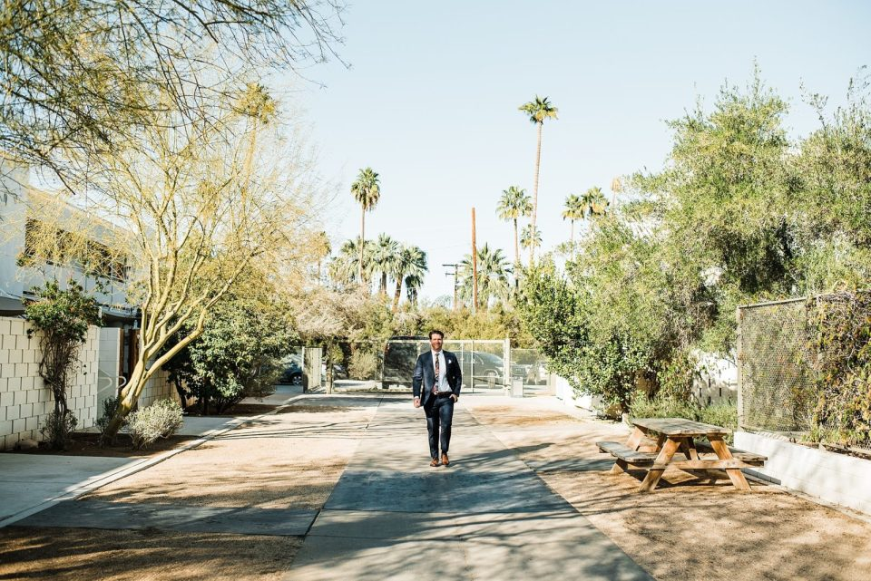groom at the palm springs ace hotel