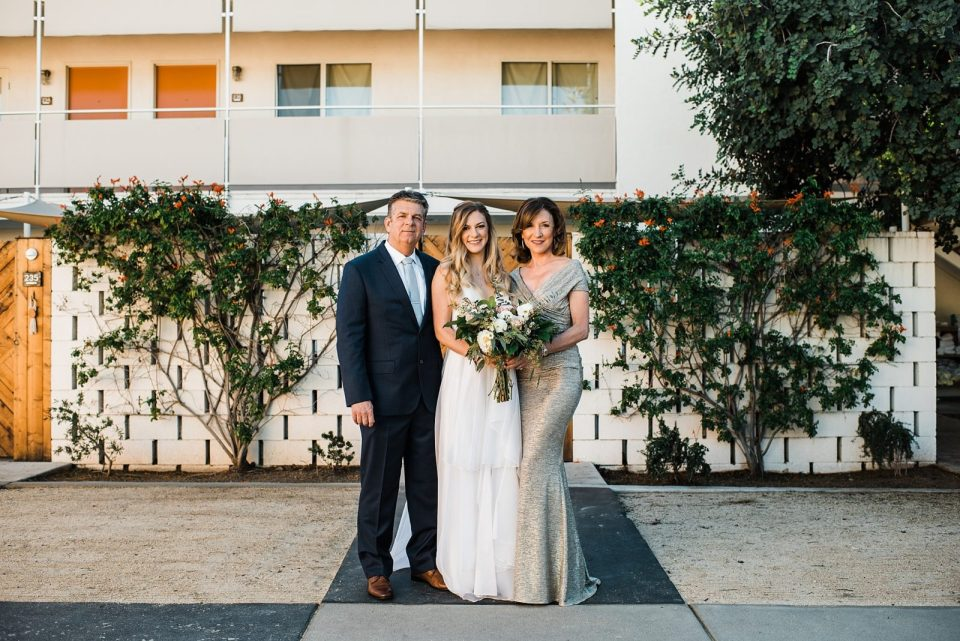 family photos at the ace hotel wedding